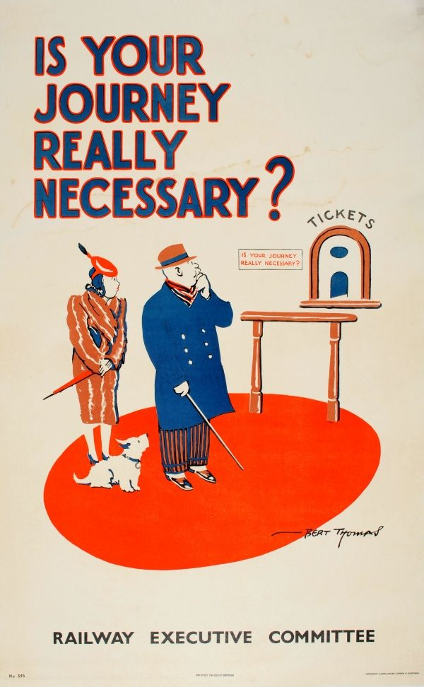 Original Vintage Posters -> War Posters -> Is Your Journey ...