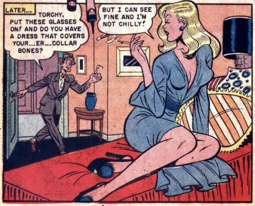 Cute pinup art from Torchy #4 (1950)