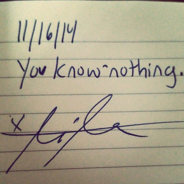 Note to self, 11/16/14