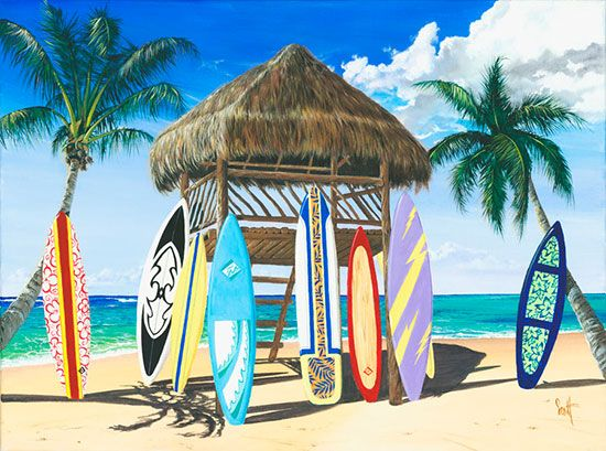 Beach and tropical murals beach scene wallpaper life 39 s for Beach scene mural wallpaper
