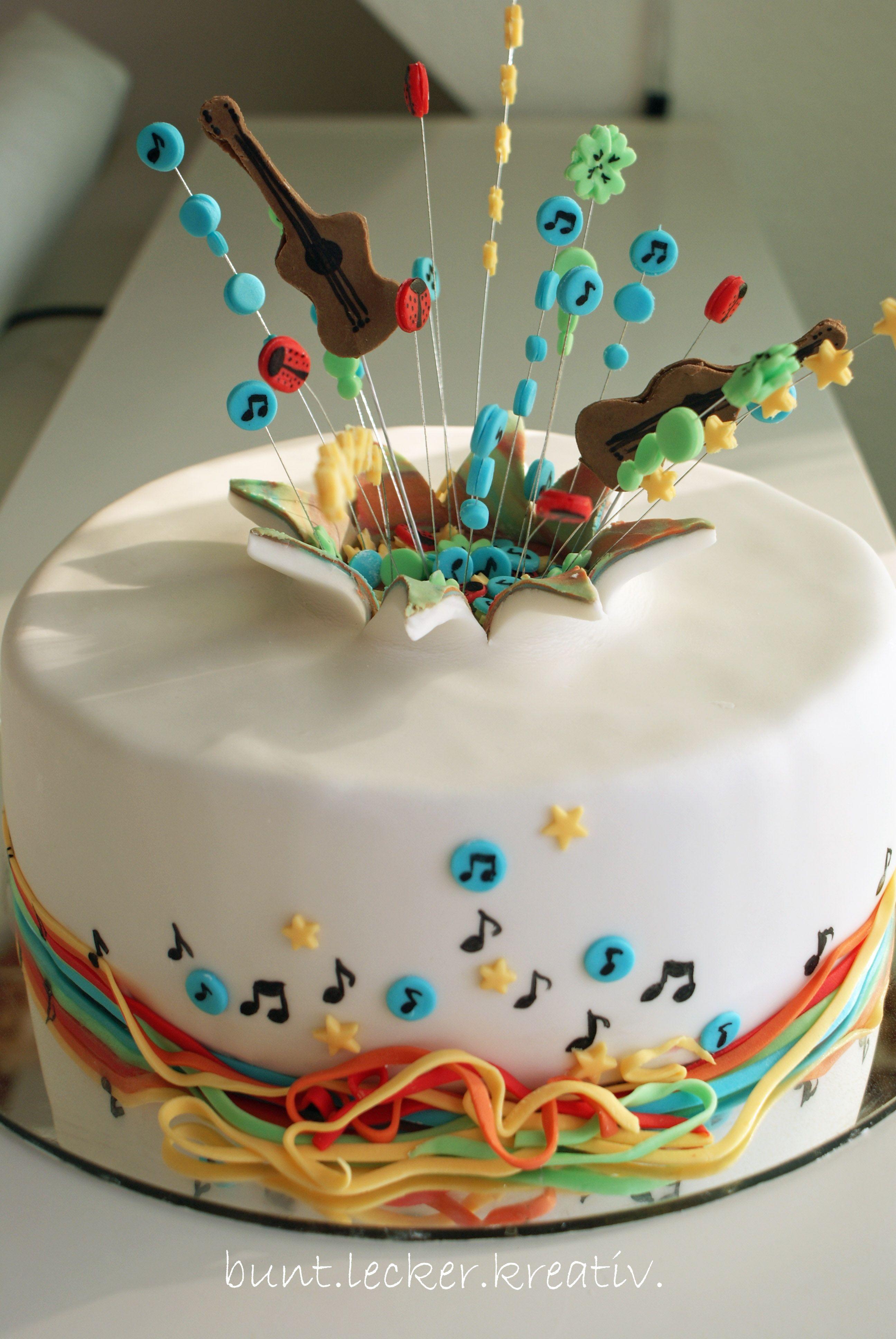 Torte Zur Jugendweihe Geburtstag Mit Explosion Birthday Cake With Explosion Musik Kuchen Geburtstagstorte Torte Einschulung