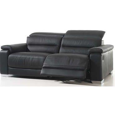 Canape Relaxation 2 5 Places Coloris Noir Conforama Comparateur Canapecomparateur Canape Canape Conforama Canape Cuir