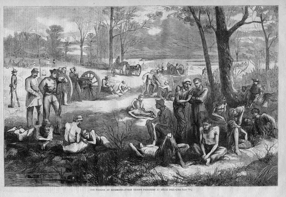 BELLE ISLE CIVIL WAR PRISON, UNION TROOPS PRISONERS in Collectibles, Militaria, Civil War (1861-65)   eBay