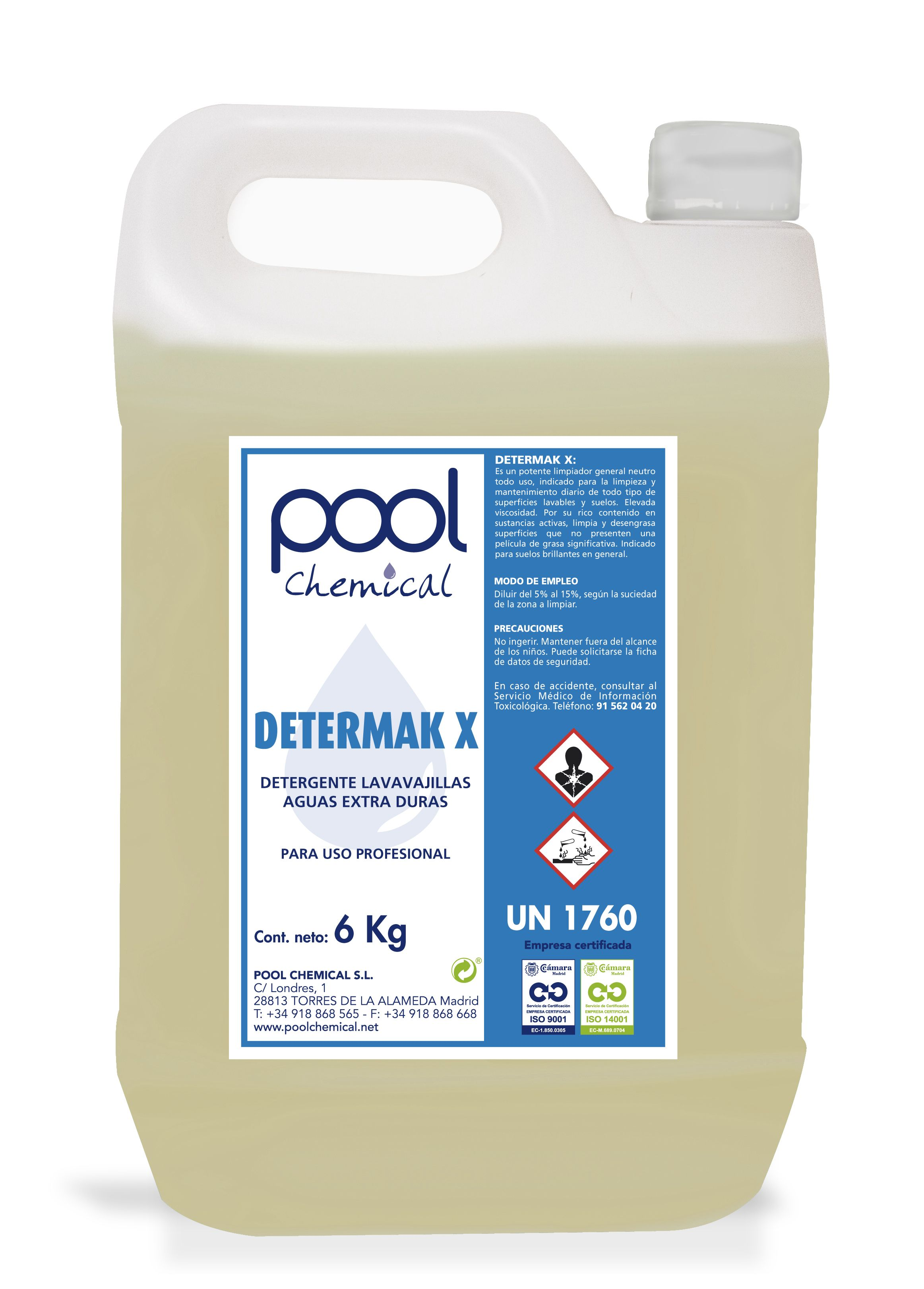 Determak X Es Un Detergente Liquido Para Ser Usado En Maquinas