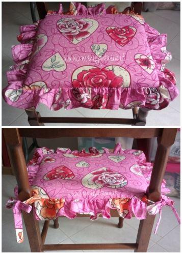 come fare cuscini per sedie tutorial facile   Cuscini per