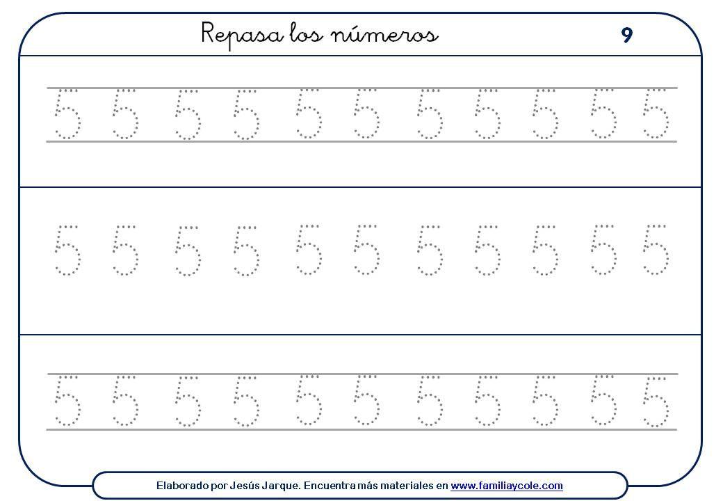Pin En Numero 5 Grafia Y Cantidad Etc
