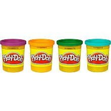 Play-Doh 4-Pack - Secondary Colors by Hasbro. $6.50. Recommended Age: 2 years and up. Let your imagination run wild with bright colors from Play-Doh! Playing with Play-Doh modeling compound is not only fun - it develops hand-eye coordination, color skills, and an understanding of three dimensional space. Completely safe and non-toxic.The Play Doh brand is proud to celebrate over 50 years of colorful, creative play. Play Doh first introduced in 1956, Play Doh modeling compound ...