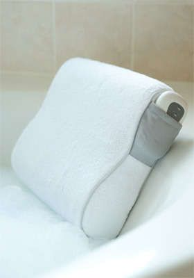 Fancy bath pillow for evening soaks.   Gifts for Expecting Mamas ...