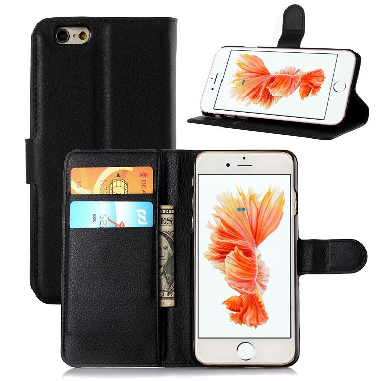 Leather Wallet Case For iPhone 6 6S Cover Luxury Flip Coque Hard ...