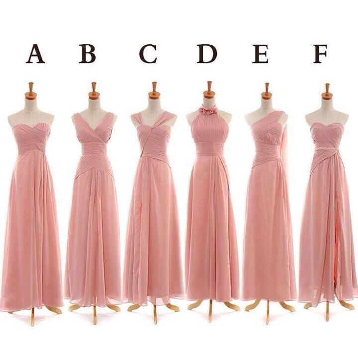 Distintos modelos, mismo estilo. | Bridesmaid dresses | Pinterest ...