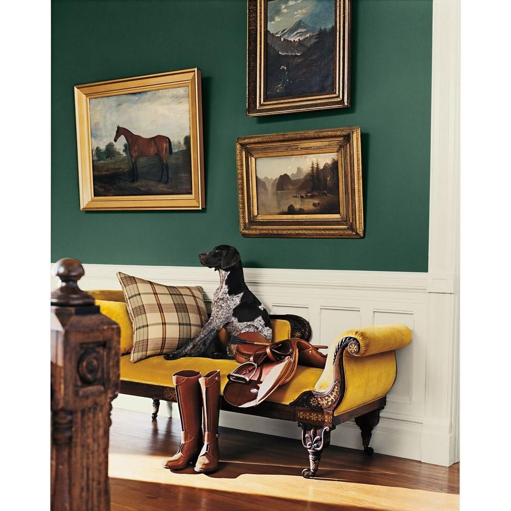 Ralph lauren paint in windsor green and polo mallet white for Interior decorating windsor
