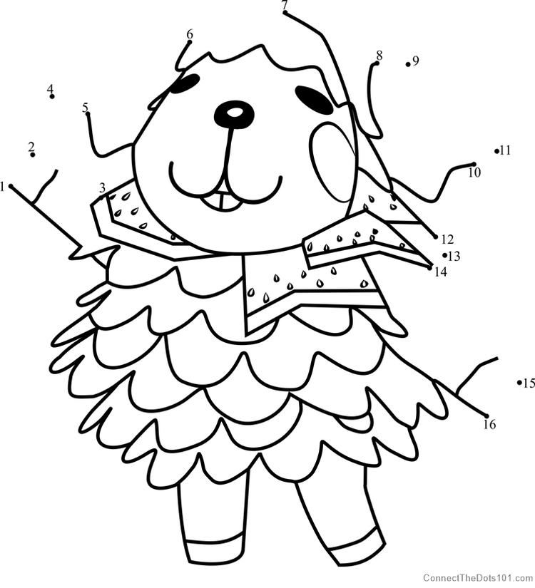 Wendy Animal Crossing Dot To Dot Animal crossing, Cat
