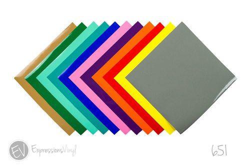 Oracal 651 12 X 12 Adhesive Vinyl Sheets Vinyl Sheets Inkjet Printable Vinyl