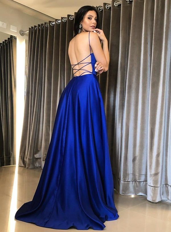 Modelos de Vestido Para Formatura Curto Modelo Azul Royal