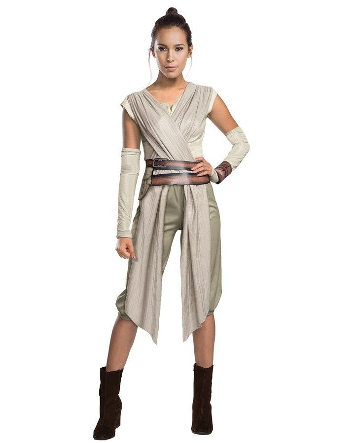 Star Wars - The Force Awakens Rey Deluxe Womens Costume for sale online! Buy The Force Awakens Rey costume and other star wars costumes online.  sc 1 st  Pinterest & From The Force AwakensItem Includes:Top with Wraps.Pants.Belt.1 x ...