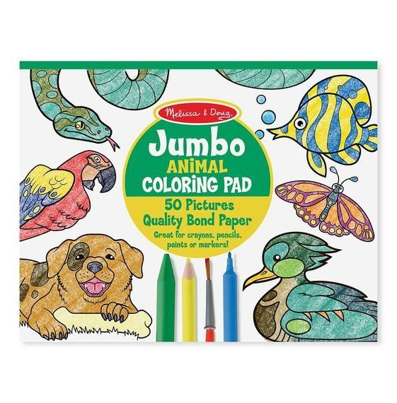 Melissa & Doug Jumbo Animal Coloring Pad in 2019 | Melissa ...