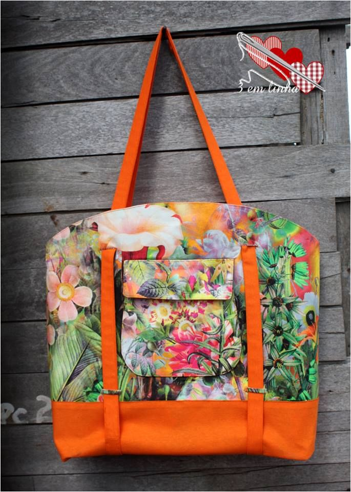 The Sophia Beach Tote Pdf Sewing Pattern Slide A Rolled Up Towel Or Two Behind Adjule Long Handles And Head To But Don T Limit This Bag