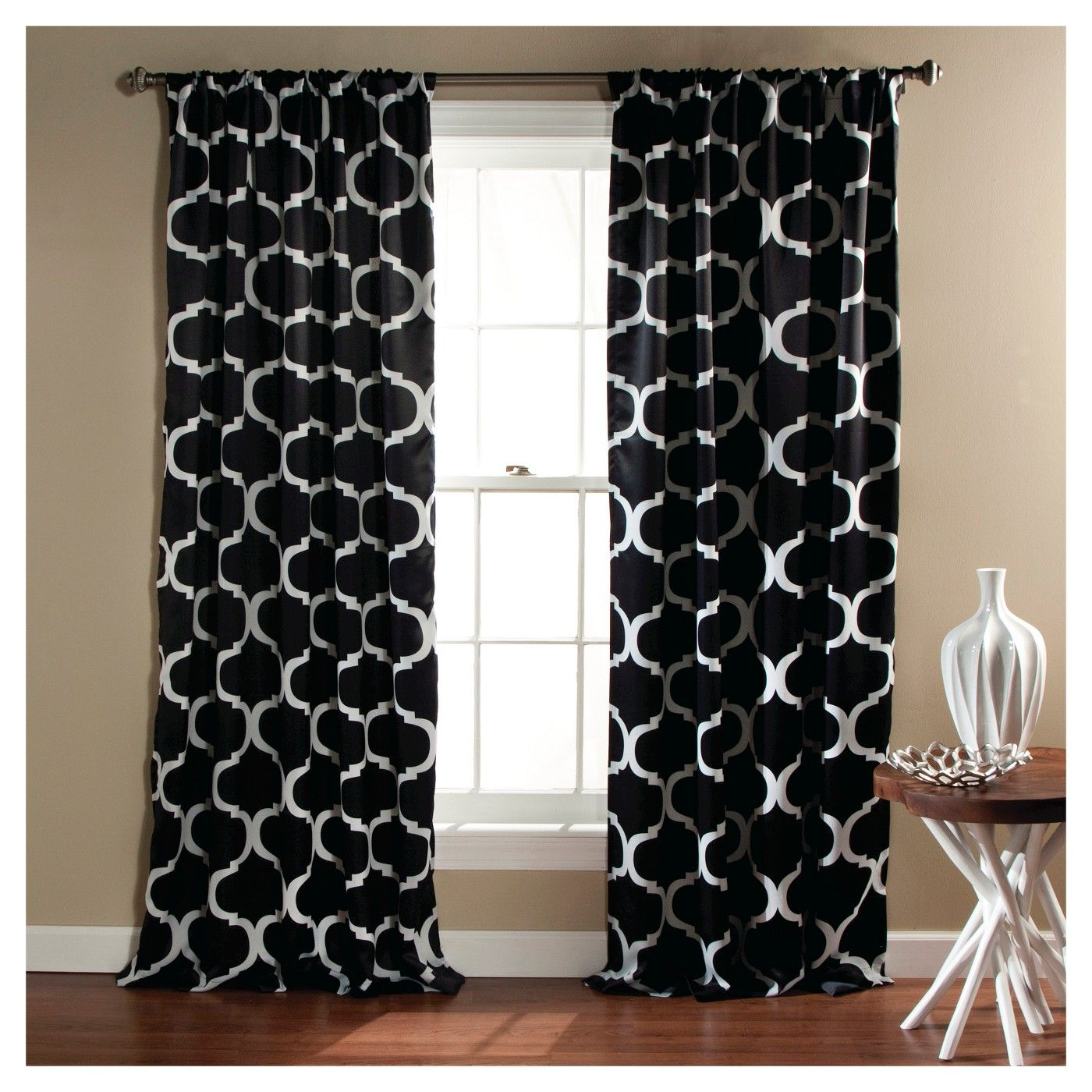 Geo Blackout Curtain Panels Set Of 2  Image 1
