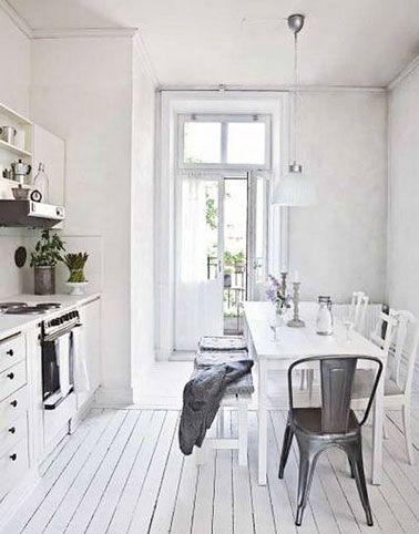 Résultat De Recherche Dimages Pour Parquet Blanc Laqué DECO - Cuisine blanche parquet pour idees de deco de cuisine