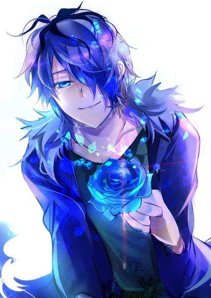 anime neko boy with blue hair - Google zoeken
