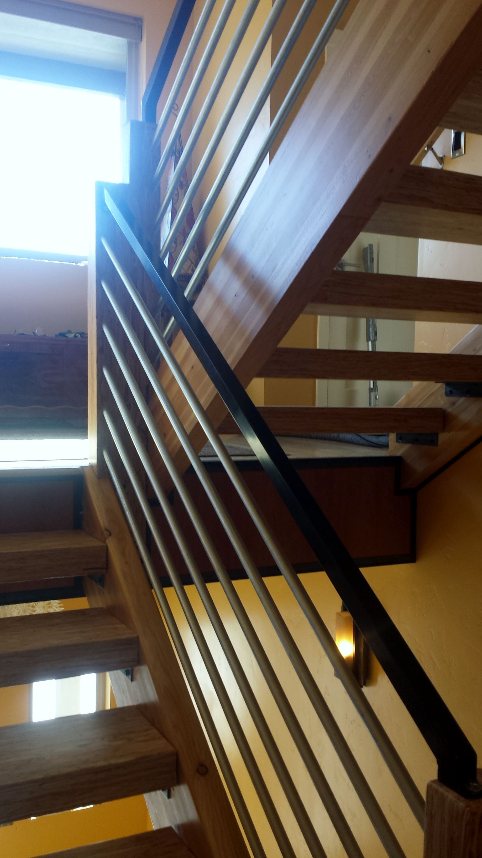 Interior Stair Railing Fabricated And Installed By Frontier Fence Company In Boise Idaho Treasure Valley