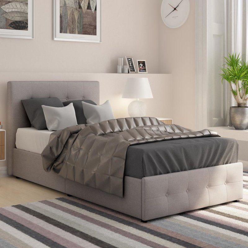 Houchins Upholstered Storage Platform Bed & Houchins Upholstered Storage Platform Bed | Pinterest | Platform ...
