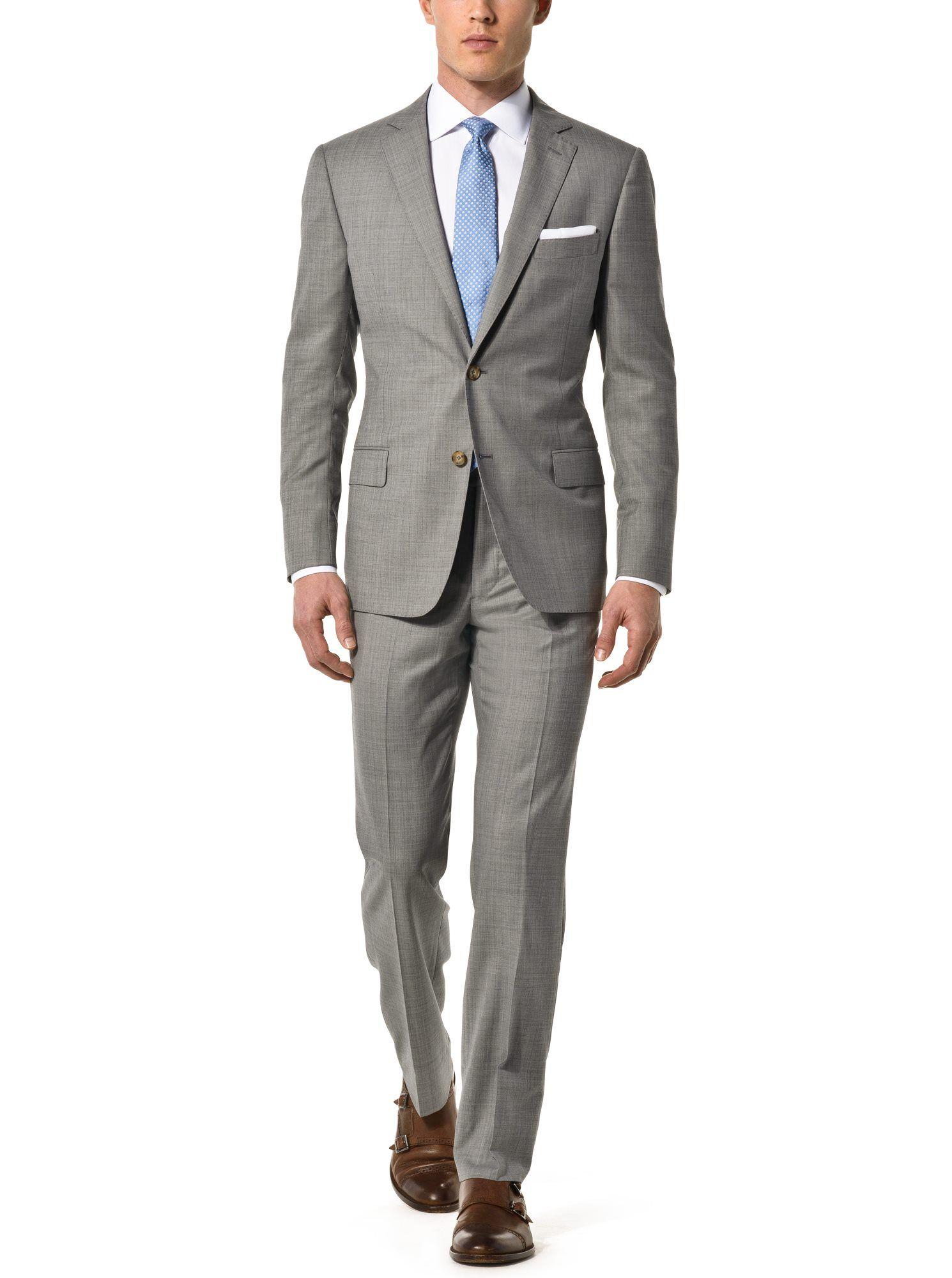 Light Grey Custom Suit | Spring Wedding Looks for Men from J ...
