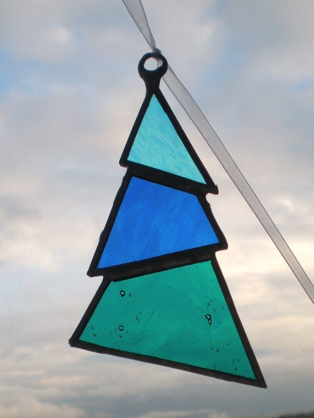 Stained glass Christmas Tree Decoration £8.00 | Christmas ...