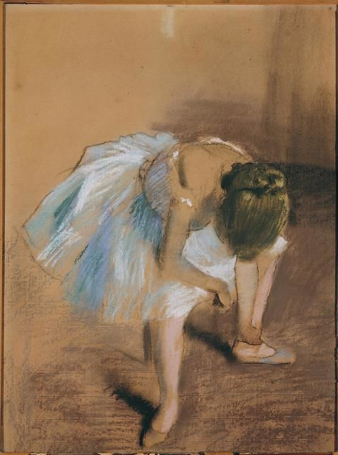 Edgar Degas | Seated Dancer With Hand on Her Ankle (1879) | Artsy | Edgar degas art, Degas  drawings, Edgar degas