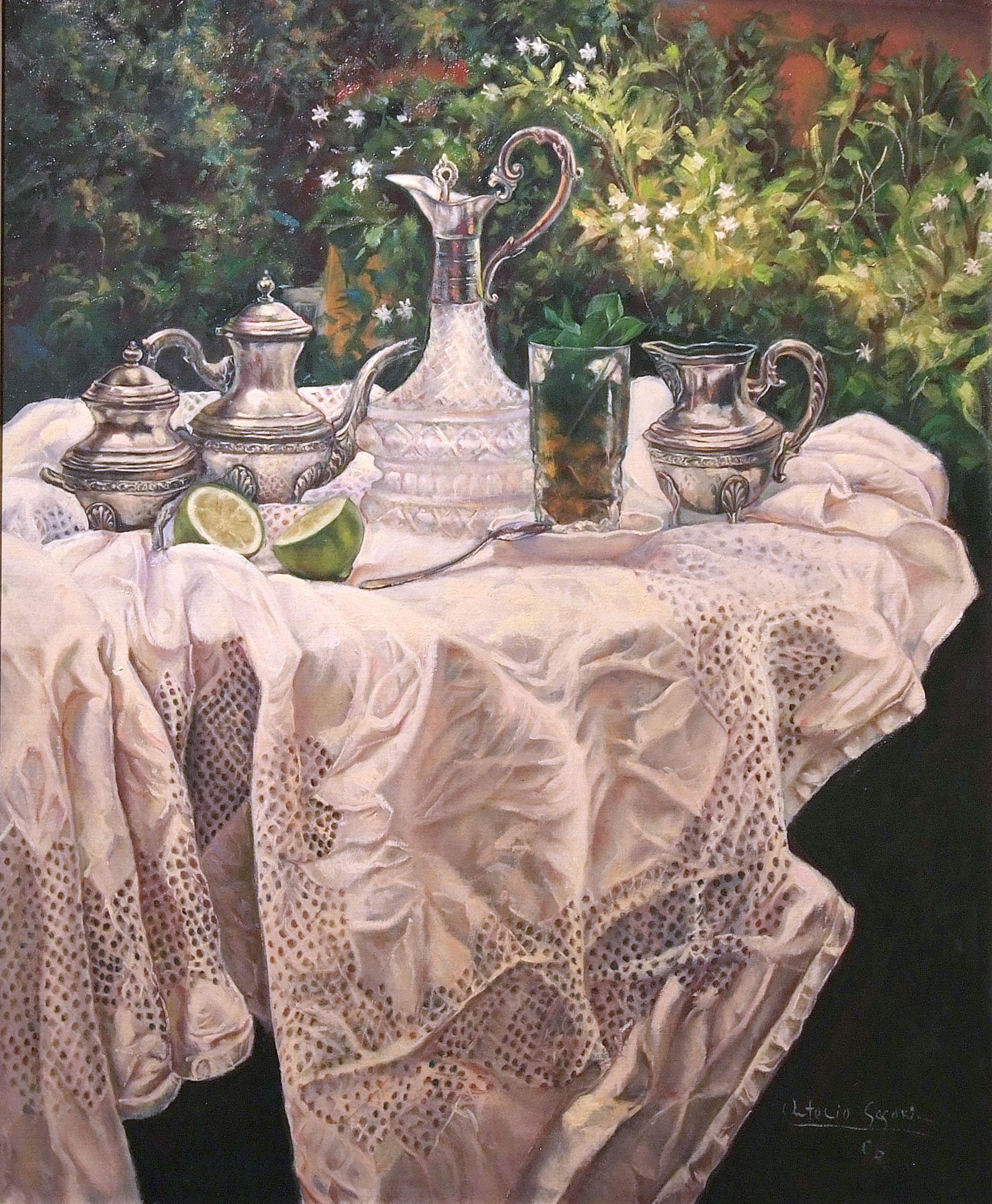 Bodegón. Mesa para té
