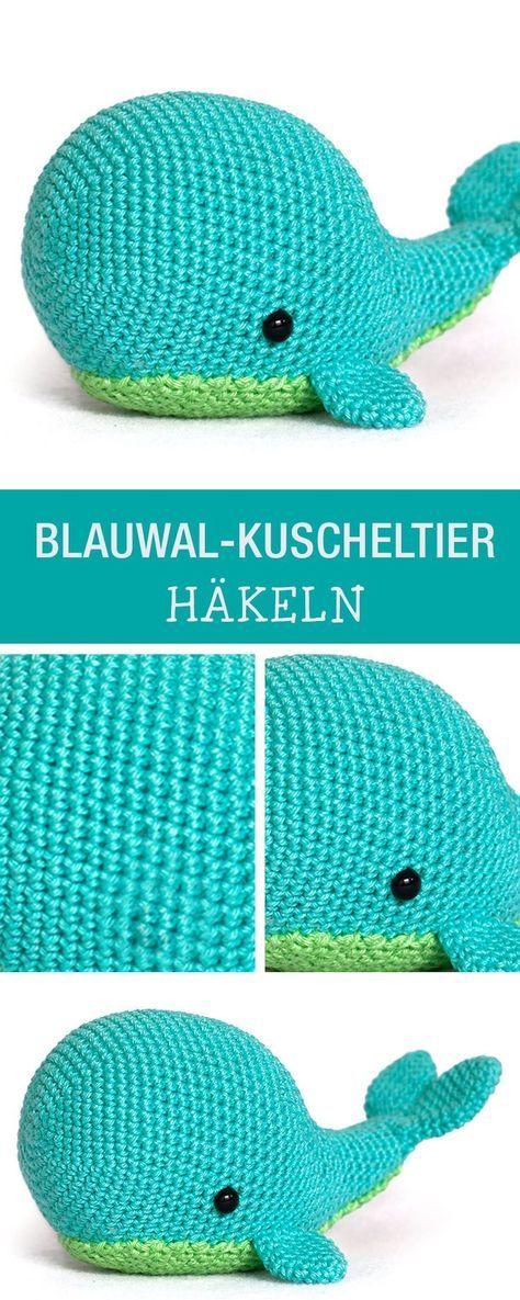 Häkelanleitung für einen kuscheligen Blauwal / crochet a soft toy, amigurumi whale via DaWanda.com #muñecosdeganchillo