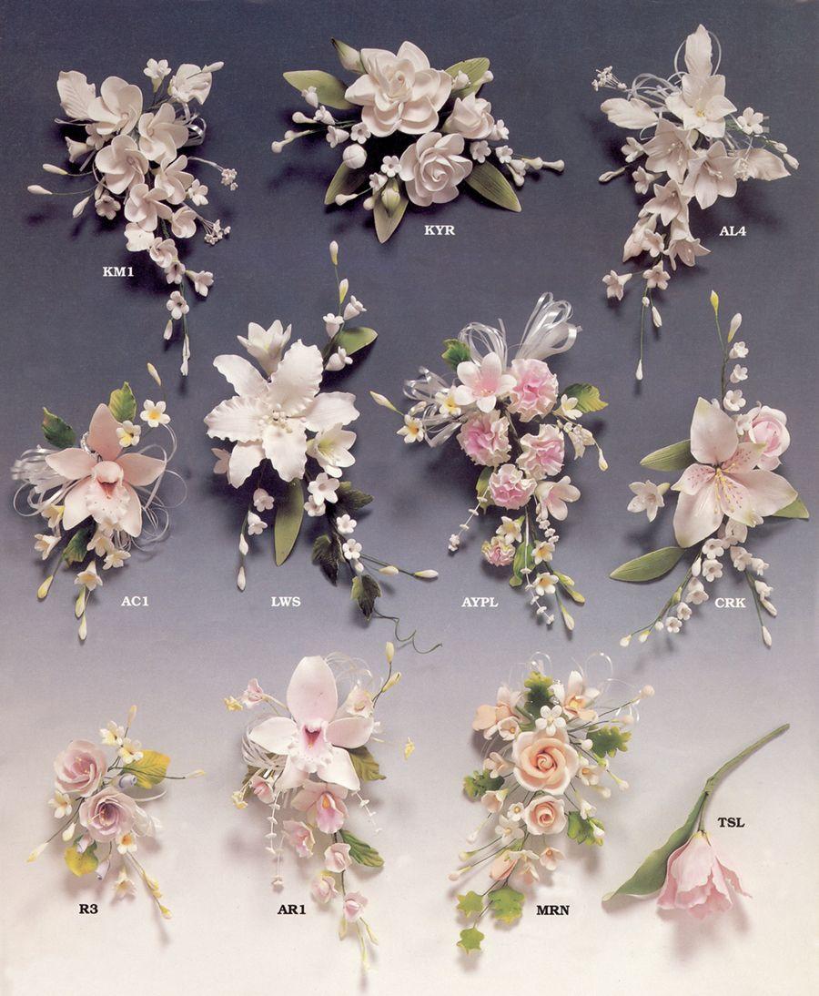 Gumpaste Flowers Wedding Cakes By Dawna Llc Kvety Na