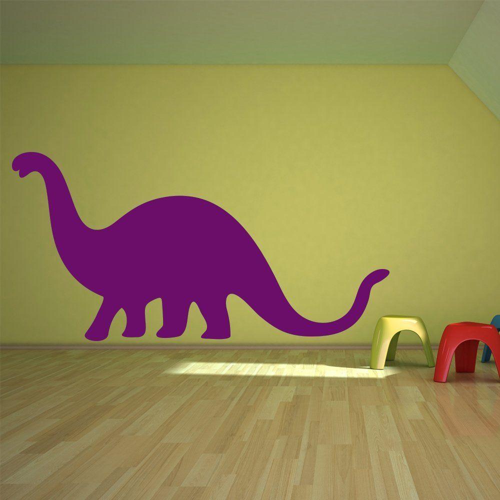 Brontosaurus Prehistoric Dinosaur Wall Stickers Kids Nursery Bedroom ...