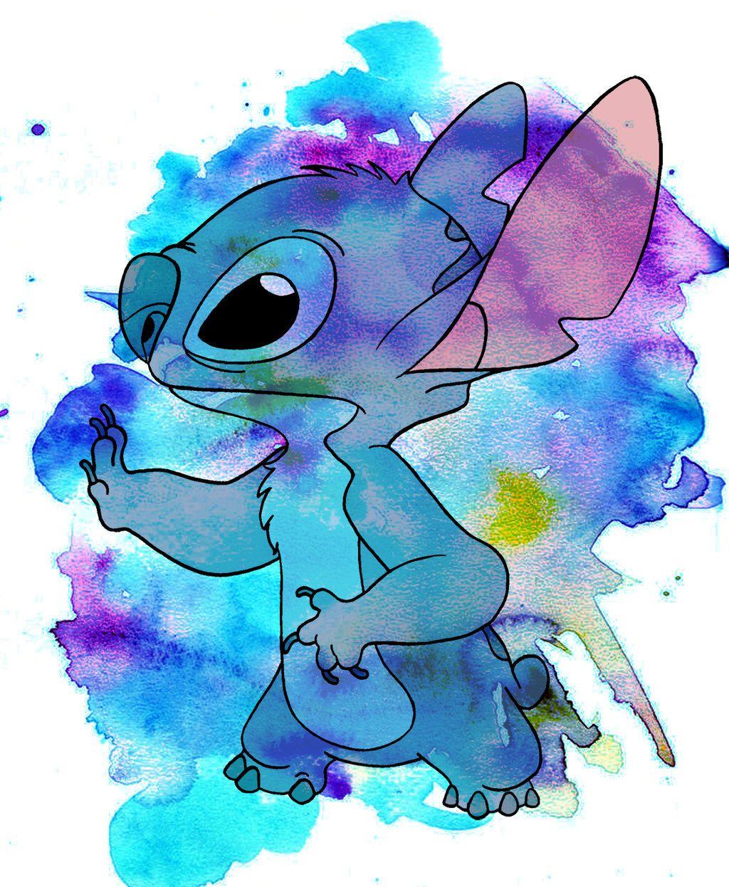 Stitch Watercolor By Jmascia Deviantart Com On Deviantart 壁紙