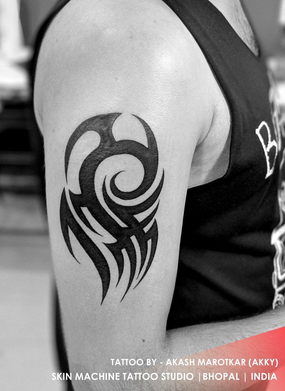 Tribal tattoo by Akash Marotkar (Akky) SKIN MACHINE TATTOO