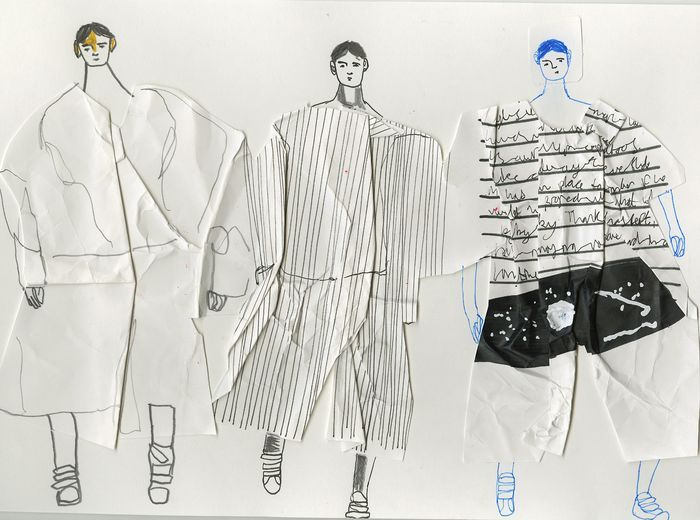 Showstudio: John Booth illustrates Juun J for the men's Paris collections