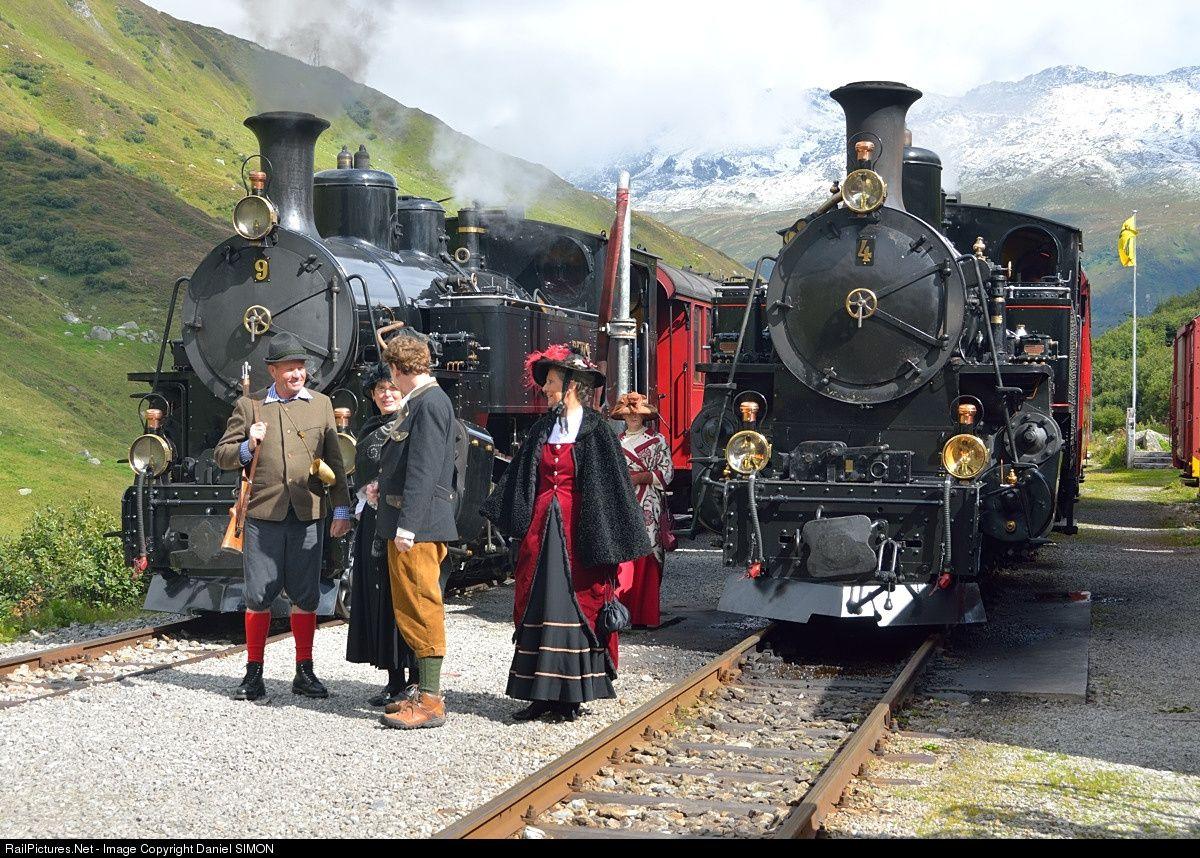 #4 FO Furka Oberalp Railway Furka Oberalp #4 at Between Realp and Gletsch, Switzerland by Daniel SIMON