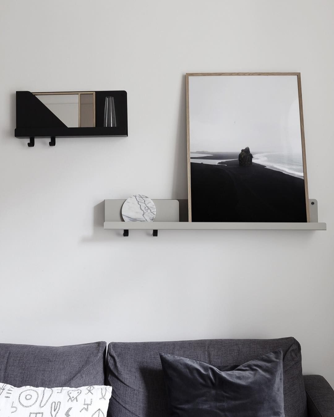Black Beach Print In Our Living Room Cocolapine