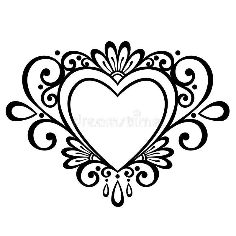deco heart. vector deco abstract heart. design element , #aff, #vector, # heart, #deco, #element, #design #ad | heart template, heart design, heart  tattoo designs  pinterest
