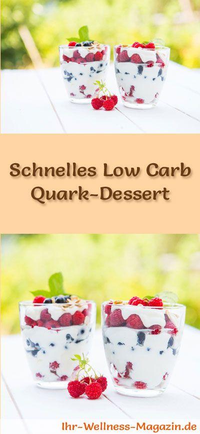 Schnelles Low Carb Quark-Dessert im Glas - Rezept für Nachtisch #dessertfoodrecipes