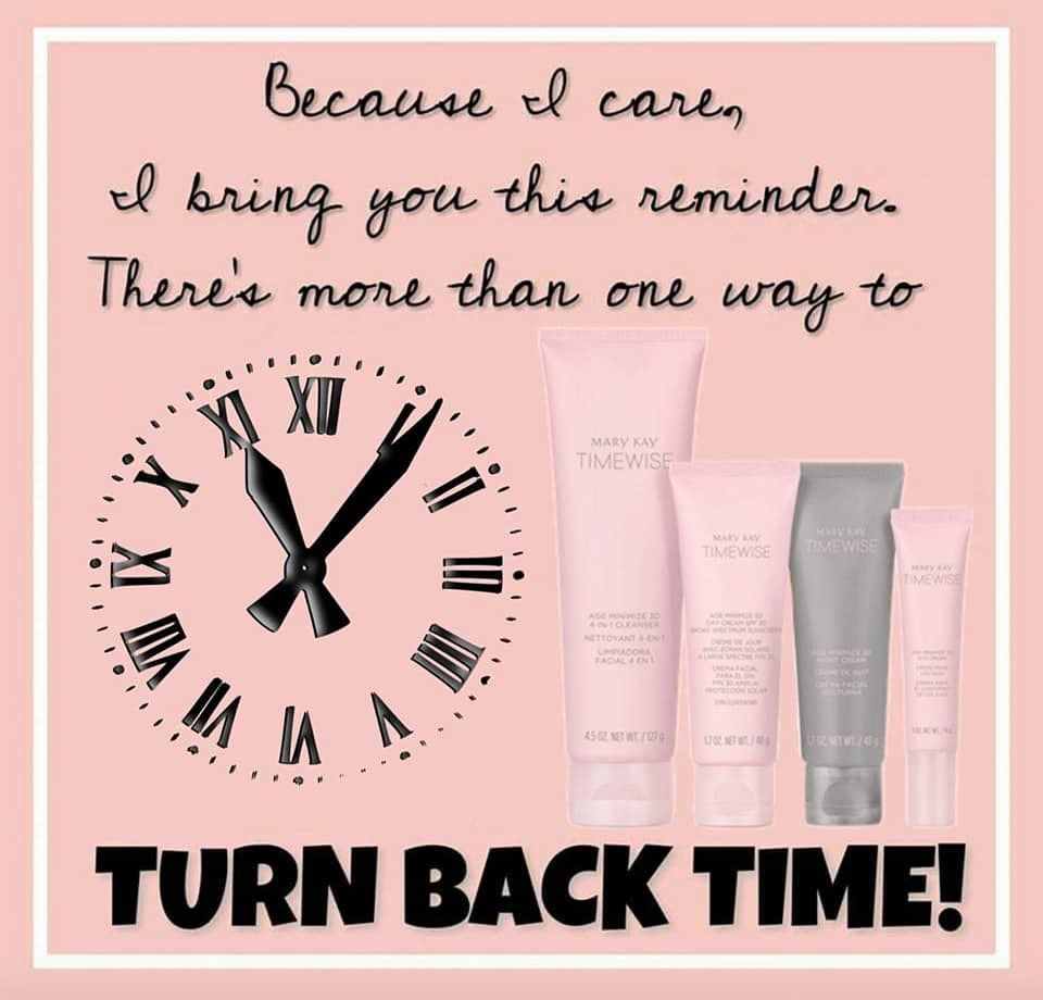Happy Nov 1st Time Change This Weekend Mary Kay Quotes Mary Kay Skin Care Mary Kay Marketing