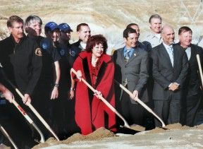 Connie: Front and center at a groundbreaking for the cross-valley connector in 2008.