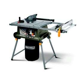 Rockwell 15 Amp 10 In Carbide Tipped Table Saw Rk7241s Jobsite Table Saw Best Table Saw 10 Inch Table Saw
