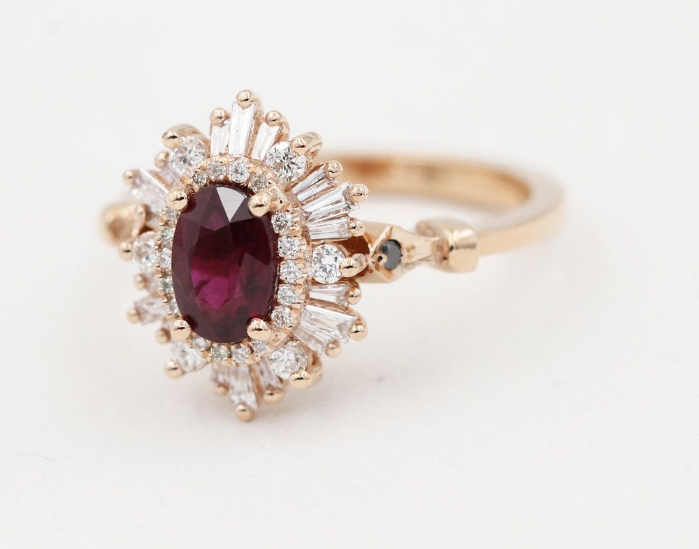 The Oval Gatsby Petite Heidi Gibson Wedding Rings Vintage Wedding Rings Unique Wedding Rings Oval