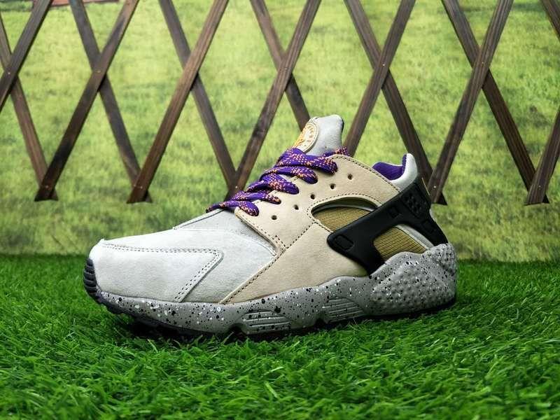b5f7b938cc64 Men Nike Air Huarache Run Premium Yellow Cream Grey Black 704830-20 ...