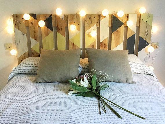 Cabecero de palet camas de palets pinterest cabecero - Cabecero cama palets ...