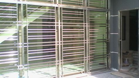 Pin by 家容 Chong on mY collectioN | Window grill design, Door grill Steel Sliding Doors And Windows on