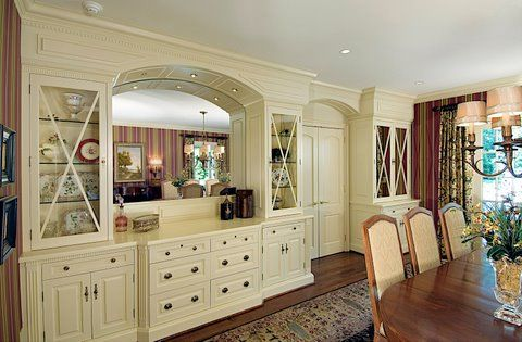 Like The Idea Of Buffet Area   Dining Room Built In China Cabinet And Buffet