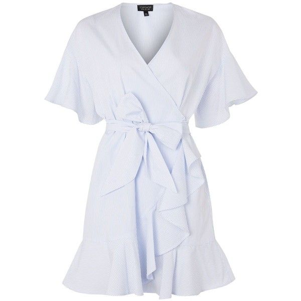 b1f1a626f2 TopShop Stripe Ruffle Wrap Dress (4