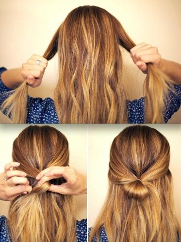 Bow Hairstyle Half Up Hair Bow Hairstyle  Make Up  Pinterest  Hair Bow